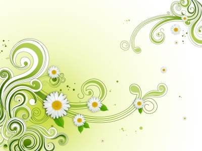 Green Floral Flower Background PSD  Photoshop  All Free Web