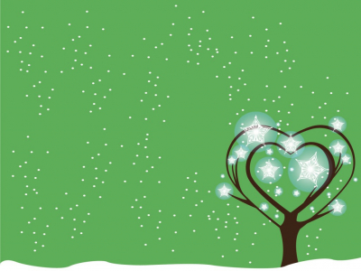 Green Tree Snow Powerpoint Backgrounds  Christmas, Love, Nature  PPT