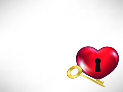 Heart And Key For Love Backgrounds  3D, Love  PPT Backgrounds