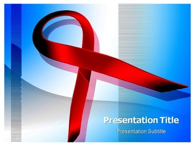 HIV Aids Symbol PowerPoint Templates, PPT Backgrounds, Slides