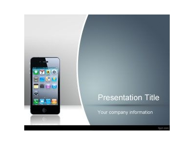 IPhone Dialog Box Wireframe PowerPoint Template