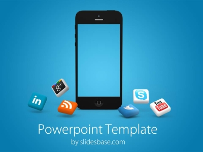 Iphone Social Media Powerpoint Template 5 00 Powerpoint Template With