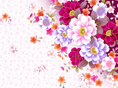 Lorful Template  Professional Flower Pattern PowerPoint Background