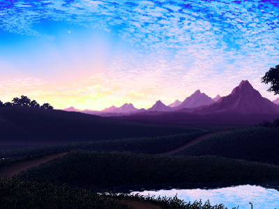nature, Pixel Art Wallpapers HD / Desktop and Mobile Backgrounds #4758