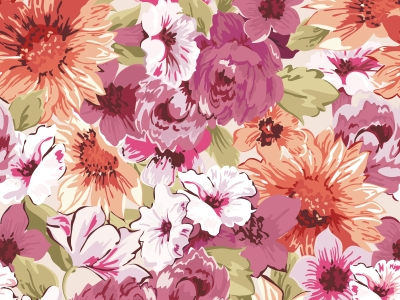 Paint Floral Background Vector  Free Vector Graphic Download