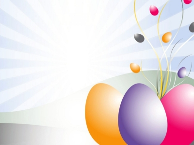 PPT Easter Eggs Clipart Backgrounds  3D, Design  PPT Backgrounds #6099