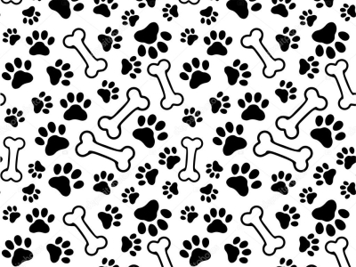 Puppy Paw Print Background Seamless Background  Pet Paw