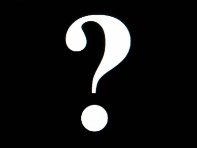 Question Marks Black Background A White Question Mark On A