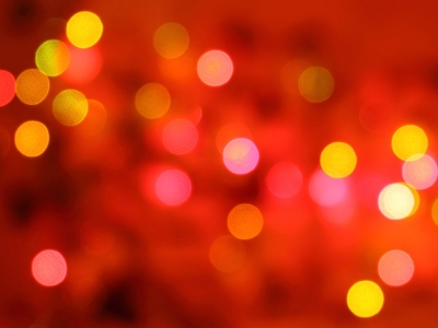 Red Christmas Background with Bokeh – Free Download #3524