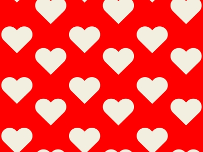 Seamless Heart Backgrounds  Vector Tiles