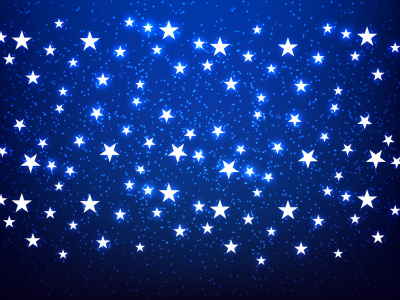 Shiny Stars Blue Background Vector  Download Free Vector Art, Stock   #3732