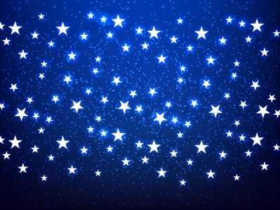 Shiny Stars Blue Background Vector  Download Free Vector Art, Stock