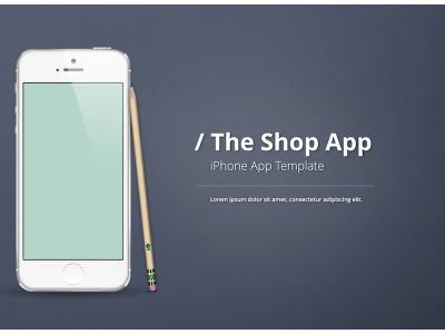Template Iphone App Presentation Template Present Your Iphone App With