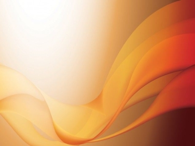 This Orange Waves PPT Template Is A Nice Abstract Design For Your