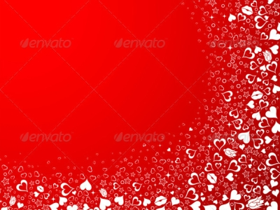 Valentines Day Background With Hearts, Element For Design, Vector