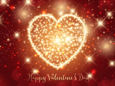 Valentines Day background with sparkly heart design Vector  Free   #4294