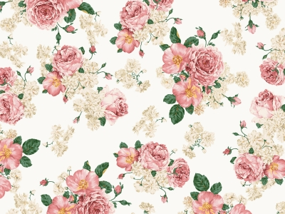 Vintage Flower Background Patterns  Q Pattern