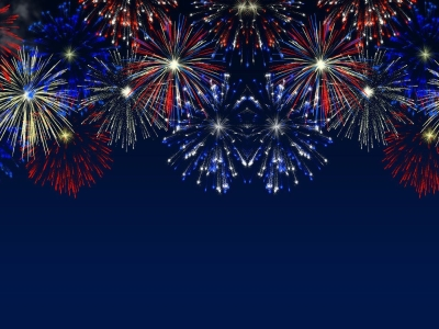 Wallpapers For > Blue Fireworks Background