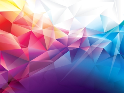 Abstract / Patterns: Polygon, Orange, Red, Blue, Background, Pattern