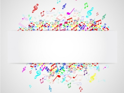 Music Notes Abstract Colorful Music Note Vector Background