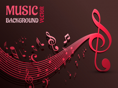 Beautiful Music Notes Vector Background  Download Free Vector Art