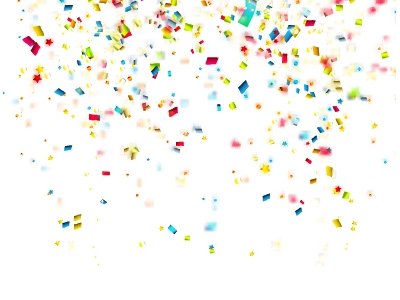 Confetti Background Vector Colorful Nfetti Holiday Background Vector