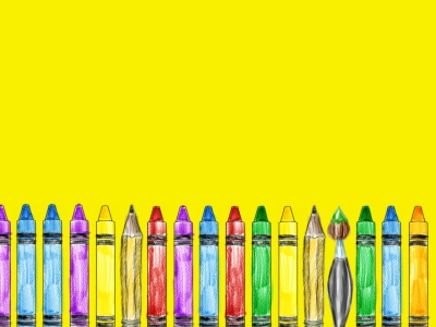 Crayon Background For Powerpoint Free School Ppt Certificate