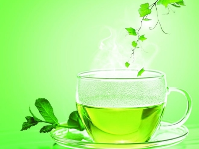 Free download Green tea poster background PSD Tea poster background   #7356