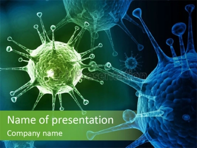 Green Virus Anism Russian Influenza Molecular PowerPoint Template