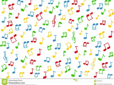 Lorful Music Notes White Background Lorful Music Notes Background