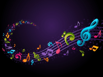 Music Notes Background Colorful  Www Galleryhip   The Hippest