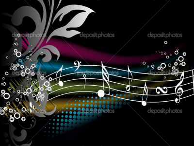 Music Notes Backgrounds Wallpapers Colorful music notes background   #6707