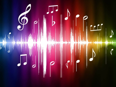 Music Notes, Music Notes With A Lorful Background