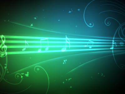 Musical Backgrounds Blue music notes background wallpaper  #6709