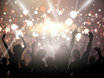Party background with golden lights Vector  Free Download #7298