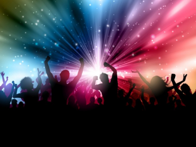 Party background with people silhoettes Vector  Free Download #7329
