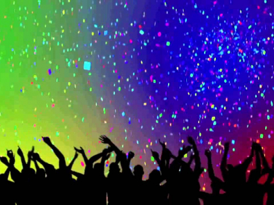 Party Crowd Silhouettes & Confetti HD Background  YouTube #7335