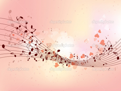 Pics Photos  Colorful Music Notes Background