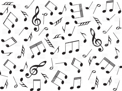 Pics Photos  Music Background With Note Vector