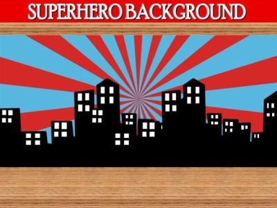 Scape Background  Super Hero Party Superheroes Birthday Super Hero