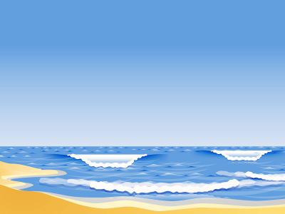 The Sandy Beach Backgrounds  Blue, Nature  PPT Backgrounds