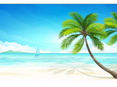 Tropical Island Beach Background Tropical Islands Background