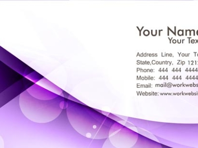Wallpapers Business Card Backgrounds Purple