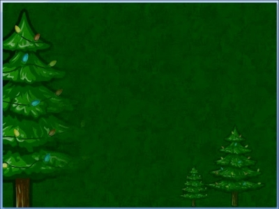Animatedxmastree Simple Dark Green Background With Christmas Tree