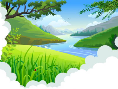 Landscape Backgrounds  Blue, Design, Green, Nature  PPT Backgrounds #8081