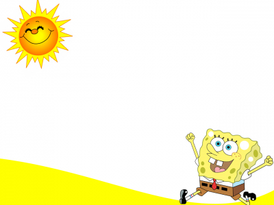 Running In The Sun Backgrounds For PowerPoint  Cartoons PPT Templates