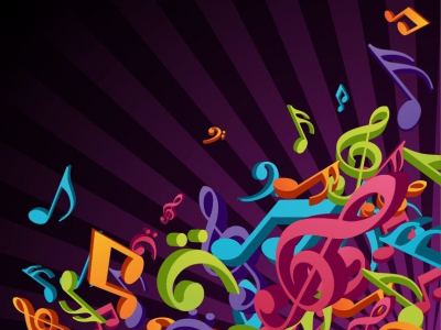 3D Colorful Music Vector Background  Free Vector Graphics  All Free