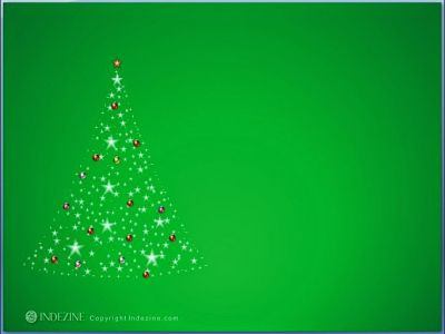 Animated Christmas Tree With Lights Flashing And Glowing
