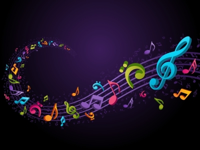 Colorful Music Notes Background Background 1 HD Wallpapers   #9049