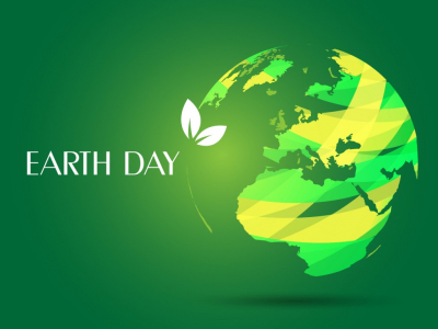 Earth Day Backgrounds  3D, Green, White  PPT Backgrounds